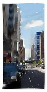 Wisconsin Ave 3 Beach Towel