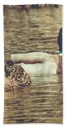 Wisconsin Ducks Beach Towel