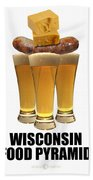 Wisconsin Food Pyramid Beach Towel
