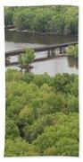 Wisconsin River Overlook 2 Beach Towel