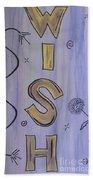 Wish Acrylic Watercolor Beach Towel