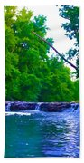 Wissahickon Waterfall Beach Towel by Bill Cannon