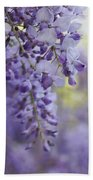 Wisteria's Soft Floral Whispers Beach Towel