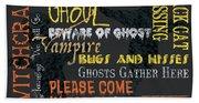 Witchcraft Typography Beach Sheet