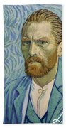 With A Handshake - Your Loving Vincent Beach Towel