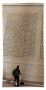 With Malice Toward None With Charity For All -- President Lincoln's Second Inaugural Address Beach Towel