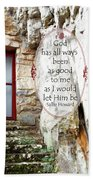 With Me - Quote Beach Towel