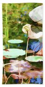 Withered Lotus In The Pond 2 Beach Towel