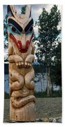 Wolf Clan Totem Pole Beach Towel