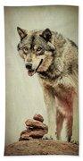 Wolf Wonder Beach Towel