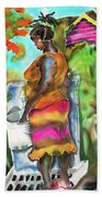 Woman At The Well Beach Towel