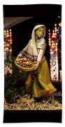 Woman Bearing Gifts For Jesus Our Savior Beach Towel