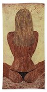 Woman In Lotus Beach Towel