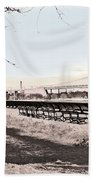 Woman In The Snow Beach Towel