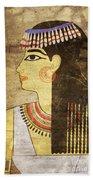 Woman Of Ancient Egypt Beach Towel