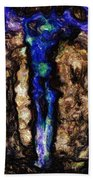 Woman Of The Night Beach Towel