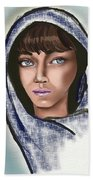 Woman Portrait Beach Towel