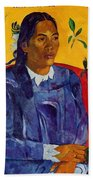 Woman With A Flower 1891 Beach Towel
