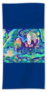 Woman With Fish Beach Towel