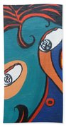 Woman12 Beach Towel