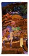 Women And White Horse 1903 Beach Towel