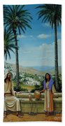 Women At The Well Beach Towel