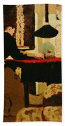 Women By Lamplight Beach Towel