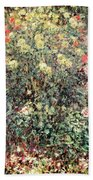 Women In The Flowers Beach Towel by Claude Monet
