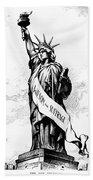 Womens Rights Cartoon, 1915 Beach Towel