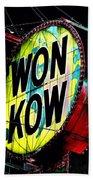 Won Kow, Wow 3 Beach Towel by Marianne Dow