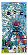 Wonder Wheel Amusement Park 6 Beach Towel