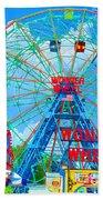 Wonder Wheel Amusement Park 7 Beach Towel