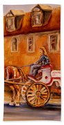 Wonderful Carriage Ride Beach Towel