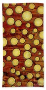 Wood And Gold Beach Towel