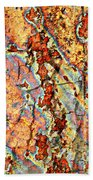 Wood And Rust Beach Towel by Carol Groenen