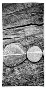 Wood And Stones - Vertical Beach Towel