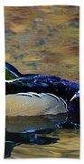 Wood Duck Drake Beach Towel
