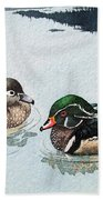 Wood Ducks Beach Towel