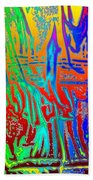 Wood Fire Rainbow Beach Towel