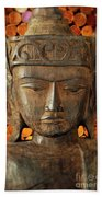 Wooden Buddha Beach Towel