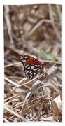 Wooden Butterfly Beach Towel