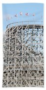 Wooden Coaster Beach Towel