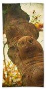 Wooden Creatures Beach Towel