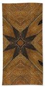 Wooden Maltese Cross Fresco Beach Towel