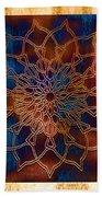 Wooden Mandala Beach Towel by Hakon Soreide