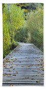 Wooden Path Beach Towel