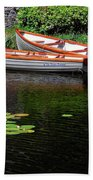 Wooden Rowboats Beach Towel