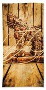 Wooden Trojan Horse Beach Towel