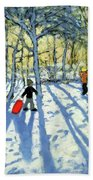 Woodland In Winter Beach Towel