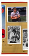 Woody Hayes Legen Five Panel Beach Towel